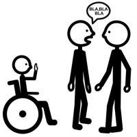 Falar de uma pessoa na sua presença (Comunicação aumentativa e allernativa por pictogramas | ARASAAC)